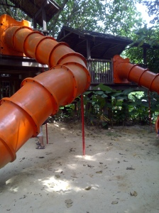 Treehouse and Slides