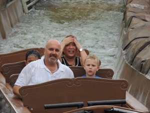 Legoland log ride two wet boys